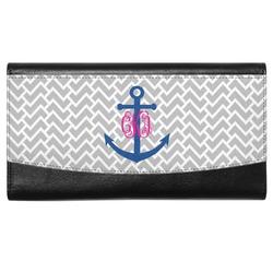 Monogram Anchor Genuine Leather Ladies Wallet (Personalized)
