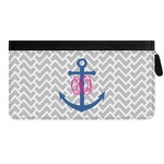 Monogram Anchor Genuine Leather Ladies Zippered Wallet (Personalized)