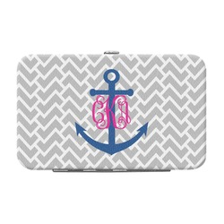 Monogram Anchor Genuine Leather Small Framed Wallet (Personalized)