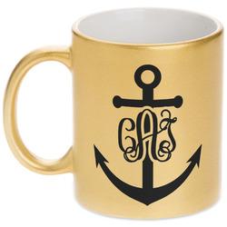 Monogram Anchor Gold Mug (Personalized)