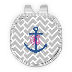Monogram Anchor Golf Ball Marker - Hat Clip