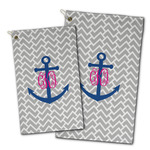 Monogram Anchor Golf Towel - Full Print
