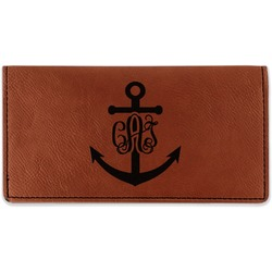 Monogram Anchor Leatherette Checkbook Holder (Personalized)