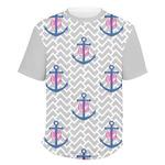 Monogram Anchor Men's Crew T-Shirt (Personalized)
