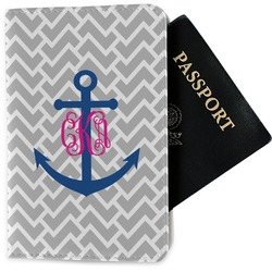 Monogram Anchor Passport Holder - Fabric (Personalized)