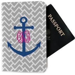 Monogram Anchor Passport Holder - Fabric (Personalized)