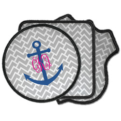 Monogram Anchor Iron on Patches