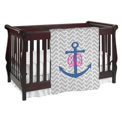 Monogram Anchor Baby Blanket (Personalized)