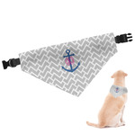 Monogram Anchor Dog Bandana (Personalized)
