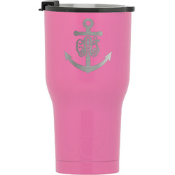 Monogram Anchor RTIC Tumbler - Pink (Personalized)