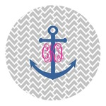 Monogram Anchor Round Decal (Personalized)