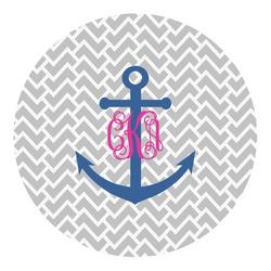 Monogram Anchor Round Decal - Medium (Personalized)