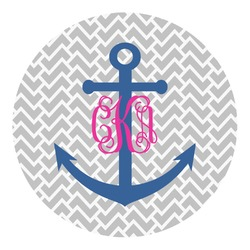 Monogram Anchor Round Wall Decal (Personalized)