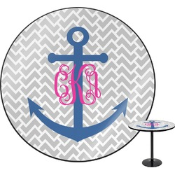 Monogram Anchor Round Table Top (Personalized)