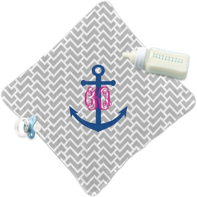 Monogram Anchor Security Blanket (Personalized)