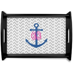 Monogram Anchor Wooden Trays (Personalized)