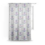 Monogram Anchor Sheer Curtains