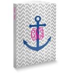 Monogram Anchor Softbound Notebook (Personalized)