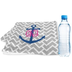 Monogram Anchor Sports Towel (Personalized)