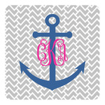Monogram Anchor Square Decal (Personalized)