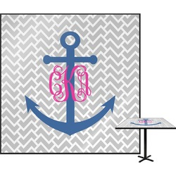 Monogram Anchor Square Table Top (Personalized)