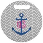 Monogram Anchor Stadium Cushion (Round)