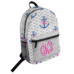Monogram Anchor Student Backpack (Personalized)