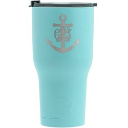 Monogram Anchor RTIC Tumbler - Teal (Personalized)