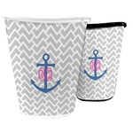 Monogram Anchor Waste Basket (Personalized)