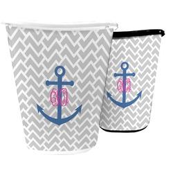 Monogram Anchor Waste Basket (Personalized)