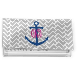 Monogram Anchor Vinyl Checkbook Cover (Personalized)