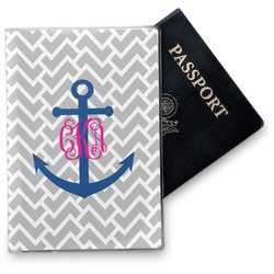 Monogram Anchor Vinyl Passport Holder (Personalized)
