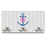 Monogram Anchor Wall Mounted Coat Rack (Personalized)