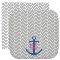 Monogram Anchor Facecloth / Wash Cloth (Personalized)