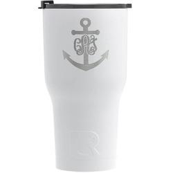 Monogram Anchor RTIC Tumbler - White (Personalized)