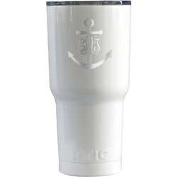 Monogram Anchor RTIC Tumbler - White (Personalized)