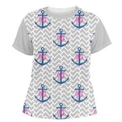 Monogram Anchor Women's Crew T-Shirt (Personalized)