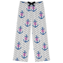 Monogram Anchor Womens Pajama Pants - XL (Personalized)
