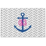 Monogram Anchor Woven Mat (Personalized)