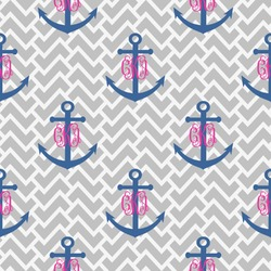 Monogram Anchor Wrapping Paper (Personalized)