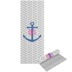 Monogram Anchor Yoga Mat - Printable Front and Back (Personalized)