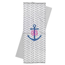 Monogram Anchor Yoga Mat Towel (Personalized)