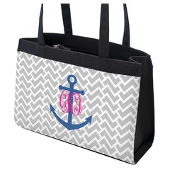 Monogram Anchor Zippered Everyday Tote (Personalized)