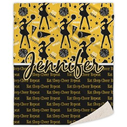 Cheer Sherpa Throw Blanket (Personalized)