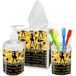 Cheer Acrylic Bathroom Accessories Set w/ Name or Text