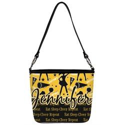 Cheer Bucket Bag w/ Genuine Leather Trim (Personalized)
