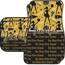 Cheer Car Floor Mats Set - 2 Front & 2 Back (Personalized)