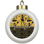 Cheer Ceramic Ball Ornament (Personalized)