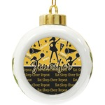 Cheer Ceramic Ball Ornament (Personalized)