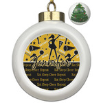Cheer Ceramic Ball Ornament - Christmas Tree (Personalized)